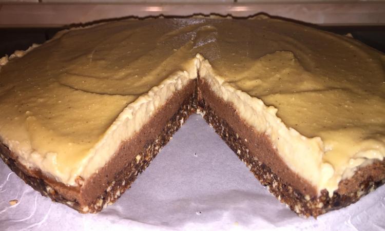 Zdrava torta od čokolade i vanile